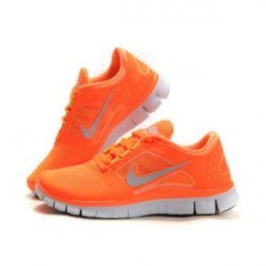Nike W Free Run+ 3 in Orange and Yellow Size 7.5